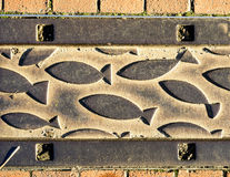 Eckernfoerde in Germany, pavement detail Royalty Free Stock Photos