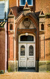 Eckernfoerde in Germany, traditional door Royalty Free Stock Image