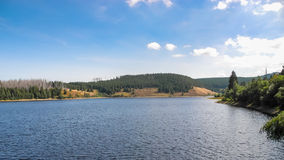 Eckerstausee. (lake) in Harz (low mountain rage) in Germany Stock Photos