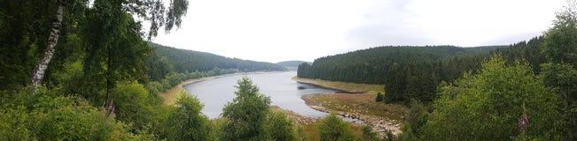 Eckertalsperre Harz Wandern Stock Afbeeldingen