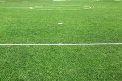 Eckfußballplatzhintergrund Stockfoto