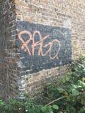 Eckgraffiti Stockfotografie
