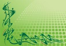 Eckrolle mit grünem Hintergrund Stockfotos