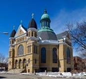 Eckschuß von Notre Dame de Chicago Stockfotografie