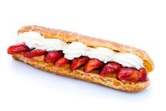 eclair草莓 免版税库存图片