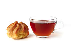 eclair茶 免版税库存图片