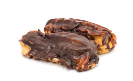 Eclair cake with chocolate Stock Photography