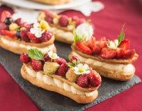 Eclair cake Stock Photo