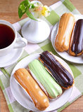 Eclair cakes Stock Fotografie