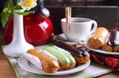 Eclair cakes Royalty-vrije Stock Afbeelding