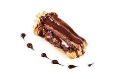 Eclair com chocolate Fotografia de Stock