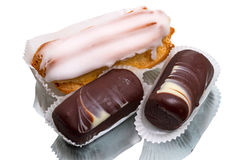 Eclair and Cream cake Potato Stock Photography