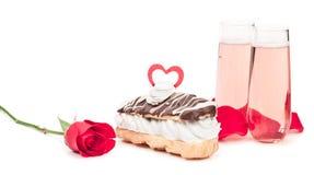 Eclair de chocolate Imagens de Stock Royalty Free
