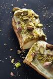 Eclair exquis de dessert à la crème Images stock