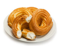 Eclair in the form of a ring Royalty Free Stock Photography