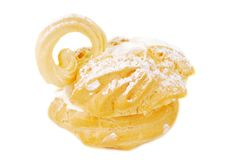 Eclair swan dessert. Royalty Free Stock Images