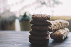 Eclairs και μπισκότα Στοκ Εικόνα