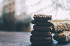Eclairs και μπισκότα Στοκ Φωτογραφίες