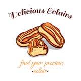 Eclairs печенья очень вкусные Стоковое Изображение