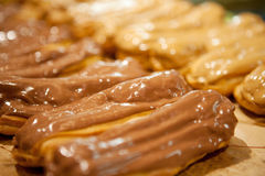 Eclairs. Many eclairs — shallow depth of field Stock Photos