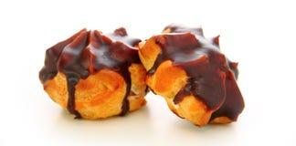 Eclairs com chocolate imagens de stock royalty free