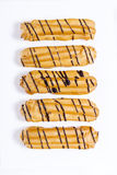 Eclairs com chocolate Foto de Stock Royalty Free