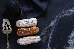 Eclairs da pastelaria dos Choux foto de stock royalty free