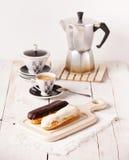 Eclairs de chocolate Fotografía de archivo libre de regalías