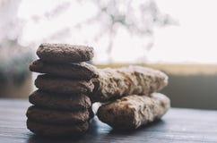 Eclairs e cookies imagens de stock royalty free