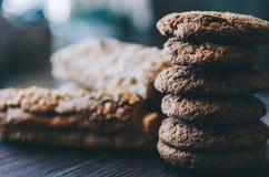 Eclairs e cookies fotografia de stock