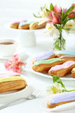 Eclairs with glaze Royalty Free Stock Photo