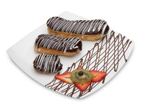 Eclairs Pastries Stock Photos