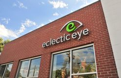 Eclectic Eye Center Building. We offer fabulous eyecare and eclectic eyewear in Midtown Memphis and Collierville Stock Images