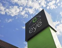 Eclectic Eye Center Sign. We offer fabulous eyecare and eclectic eyewear in Midtown Memphis and Collierville Stock Photography