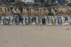 Eclectic Housing Aerial on Santa Monica Beach Royalty Free Stock Image