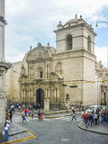 Eclectic Old Style Church in Arequipa City Royalty Free Stock Image