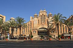eclectic style central market of Alicante royalty free stock photos