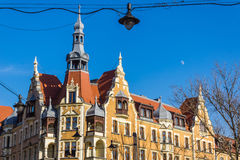Eclectic tenement in Gliwice. Silesia region, Poland Stock Image