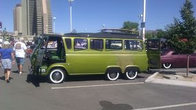 Eclectic VW at the Rat Rod Auto show in Sparks NV. 2014 Royalty Free Stock Photos