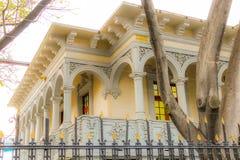 Eclectic zone en la ciudad de Mexico. Old buildings in Mexico city royalty free stock photography