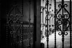 Eclectic zone en la ciudad de Mexico. Old buildings in Mexico city royalty free stock images