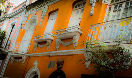 Eclectic zone en la ciudad de Mexico. Old buildings in Mexico city Royalty Free Stock Photography