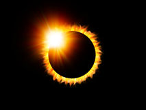 Eclipse. Illustration of a solar eclipse with flare royalty free illustration