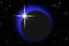 Eclipse ilustração royalty free