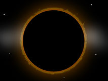Eclipse. Illustration of a full solar eclipse Royalty Free Stock Photo