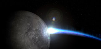 Eclipse. Sci-fi picture of an eclipse Royalty Free Stock Photo