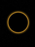 Eclipse. In a dark starfield Royalty Free Stock Images