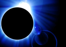Eclipse azul Imagens de Stock