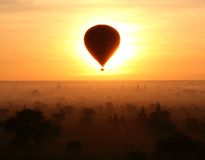 Eclipse in Bagan (Myanmar). Eclipse in Bagan. Sunrise. (Myanmar Stock Photo