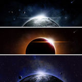 Eclipse Banners Stock Images
